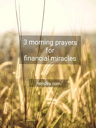 3 morning prayers for financial miracles